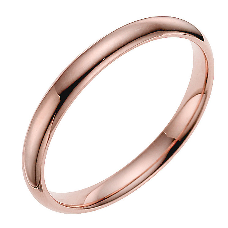 9ct rose gold 2mm extra heavyweight court ring - Product number 4628225