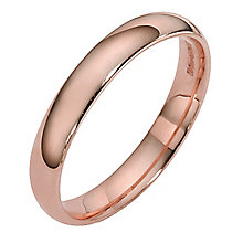 9ct rose gold extra heavy court ring 3mm - Product number 4628926