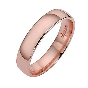 9ct rose gold extra heavy court ring 4mm - Product number 4629159
