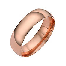 9ct rose gold extra heavy court ring 6mm - Product number 4630319