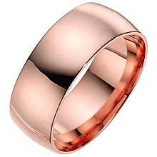 9ct rose gold 8mm extra heavyweight wedding ring - Product number 4630920
