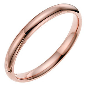 9ct rose gold 2mm super heavyweight court ring - Product number 4631919