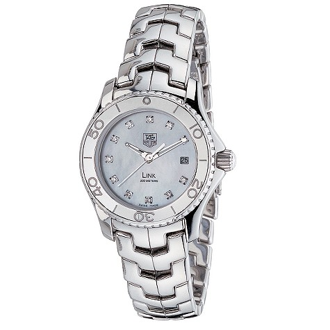 TAG Heuer Link ladies' stainless steel diamond-set watch