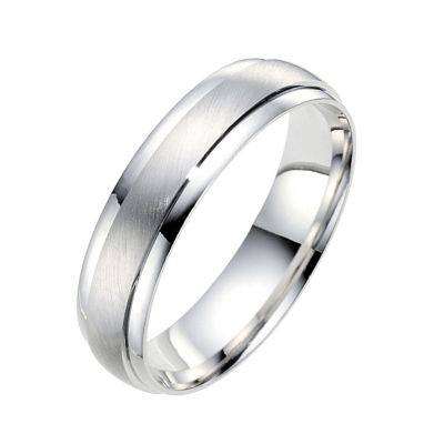18ct white gold wedding ring Ernest Jones