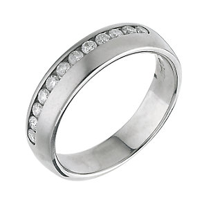 18ct white gold channel set diamond wedding ring - Product number 4644190