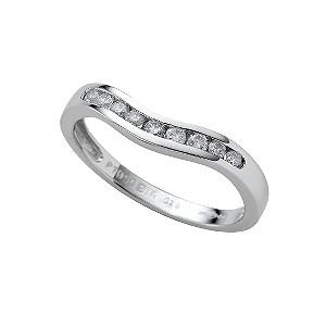 Platinum diamond wedding ring - Product number 4649087