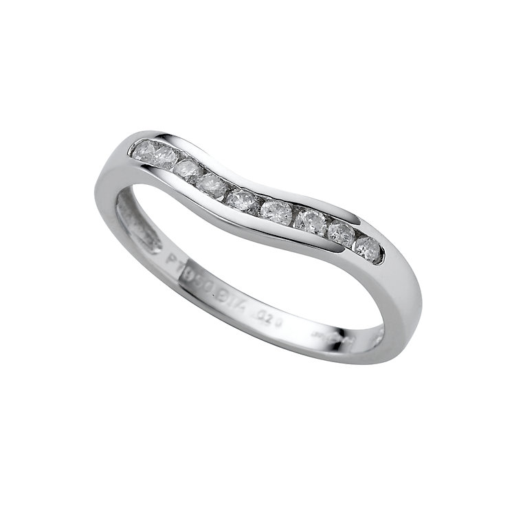 Platinum diamond wedding ring - Product number 4649087