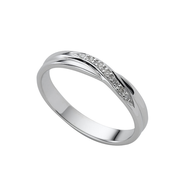 9ct white gold diamond wedding ring - Product number 4649230