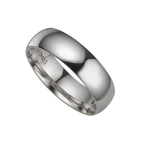 Platinum extra heavy 6mm court ring
