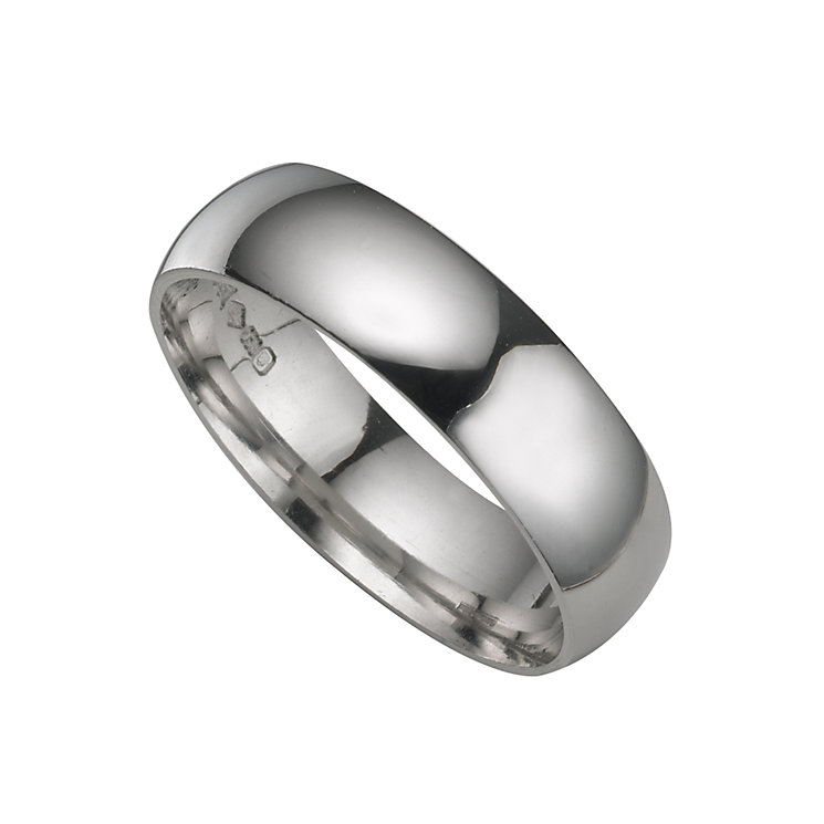Platinum extra heavy 6mm court ring - Product number 4649397