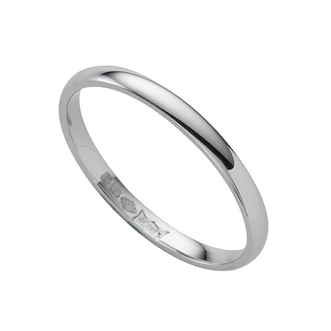 Platinum extra heavy 2mm court ring