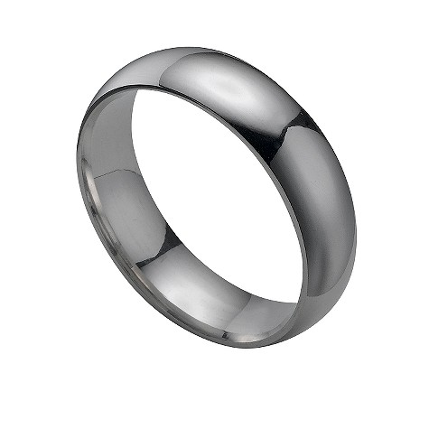 9ct white gold super heavy 6mm court ring