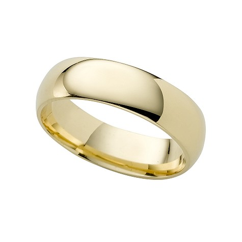 18ct gold super heavy 6mm court ring