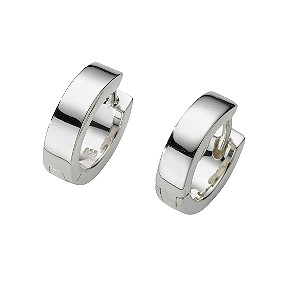 Sterling silver hoop earrings - Product number 4653084