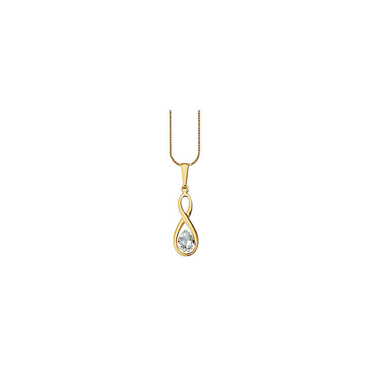 9ct Gold Crystal Pendant - Product number 4663896