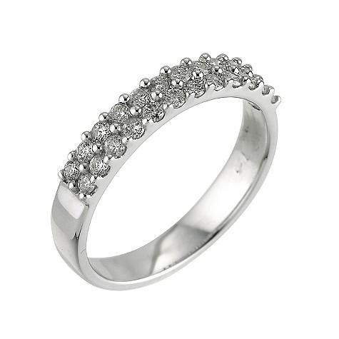 18ct white gold half carat diamond set ring