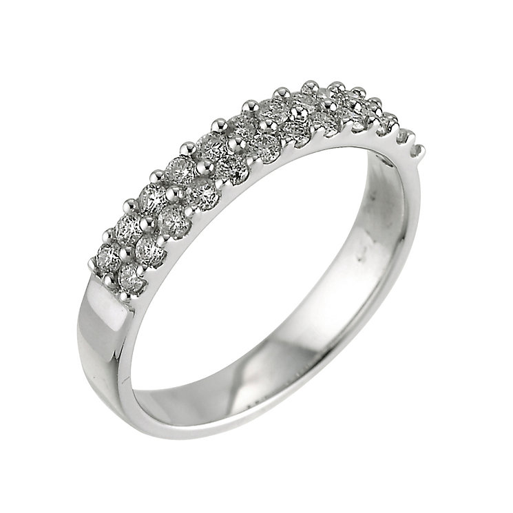 18ct white gold half carat diamond ring - Product number 4665414