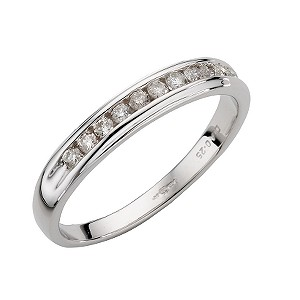 9ct White Gold Quarter Carat Diamond Ring - Product number 4669444