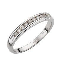 9ct White Gold Quarter Carat Diamond Ring - Product number 4669444