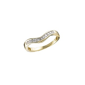 18ct Gold 1/5 Carat Diamond Wishbone Ring