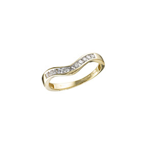 18ct Gold 1/5 Carat Diamond Wishbone Ring - Product number 4669584