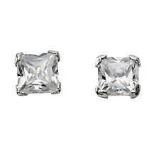 9ct white gold cubic zirconia stud earrings - Product number 4670906