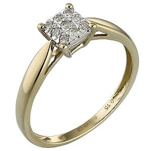 9ct Gold Diamond Ring - Product number 4675630