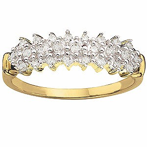 9ct Gold 1/4 Carat Diamond Eternity Ring