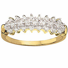 9ct Gold Diamond Ring - Product number 4676068