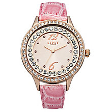 Lipsy Ladies' Stone Set Pink PU Strap Watch - Product number 4676424