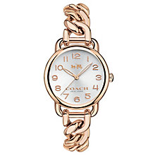 Coach Ladies' Rose Gold tone Bracelet Watch - Product number 4676432