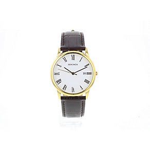 Sekonda Men's Brown Leather Strap Watch - Product number 4676874
