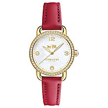 Coach Ladies' Gold tone Stone Set Strap Watch - Product number 4677587