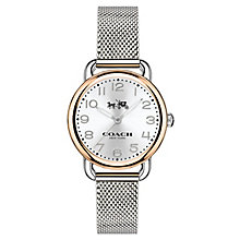 Coach Ladies' Two Colour Silver Dial Bracelet Watch - Product number 4677641