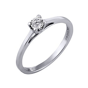 The Forever Diamond - Platinum 1/4 Carat Diamond Ring - Product number 4678079