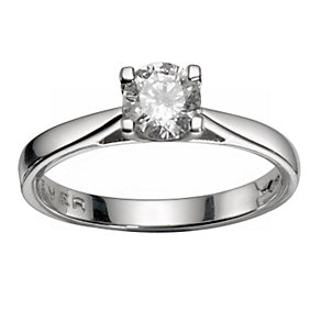 The Forever Diamond  - Platinum 1/2 Carat Diamond Ring - Product number 4678249