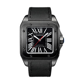 Cartier Santos 100 Men's Ion Plated Strap Watch - Product number 4678958