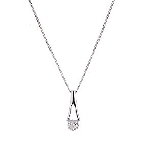 9ct White Gold Diamond Pendant - Product number 4680758