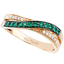 Le Vian 14ct Strawberry Gold Costa Smeralda Emerald Ring - Product number 4683285