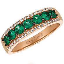 Le Vian 14ct Strawberry Gold Costa Smeralda Emerald Ring - Product number 4683315