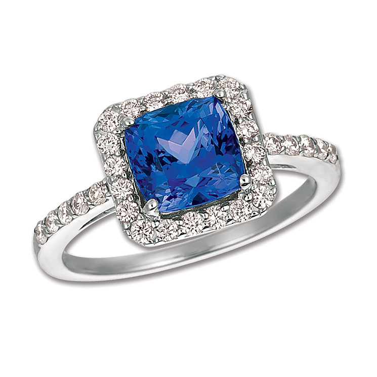 Le Vian 14ct Vanilla Gold Diamond & Blueberry Tanzanite Ring - Product number 4683625