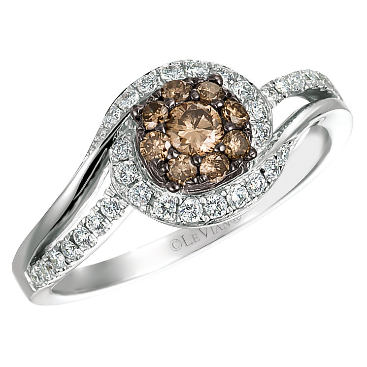 Le Vian 14ct Vanilla Gold Chocolate Diamond Ring - Product number 4684575