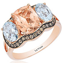 Le Vian 14ct Strawberry Gold Peach Morganite Ring - Product number 4684672