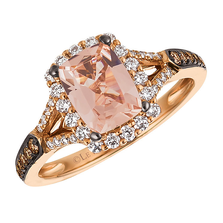 Le Vian 14ct Strawberry Gold Peach Morganite Ring - Product number 4684710