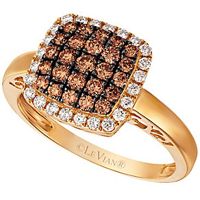 Le Vian 14ct Honey Gold Chocolate and Vanilla Diamond Ring - Product number 4684907