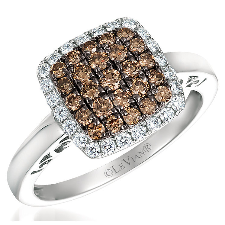 Le Vian 14ct Vanilla Gold Chocolate Diamond Ring - Product number 4685164