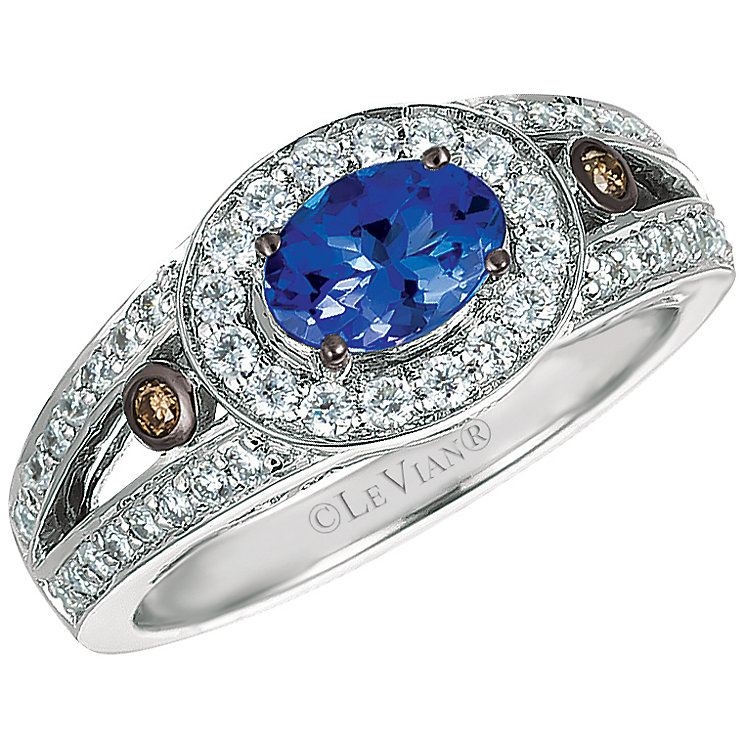 Le Vian 14ct Vanilla Gold Blueberry Tanzanite Diamond Ring - Product number 4685202