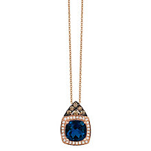 Le Vian 14ct Strawberry Gold Deep Sea Blue Topaz Pendant - Product number 4685725