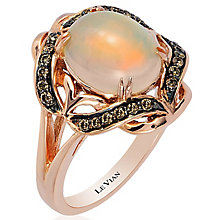 Le Vian 14ct Strawberry Gold Chocolate Opal Ring - Product number 4685741