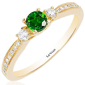 Le Vian 14ct Honey Gold Chrome Diopside Stacking Ring - Product number 4685784